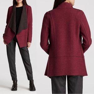 Eileen Fisher Merino Wool Double-Knit Cardigan